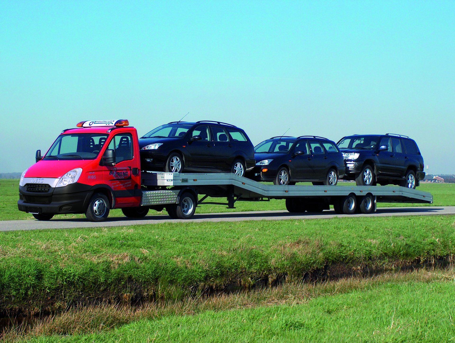 8 0 tons luchtgeveerde auto transport oplegger veldhuizen. Black Bedroom Furniture Sets. Home Design Ideas