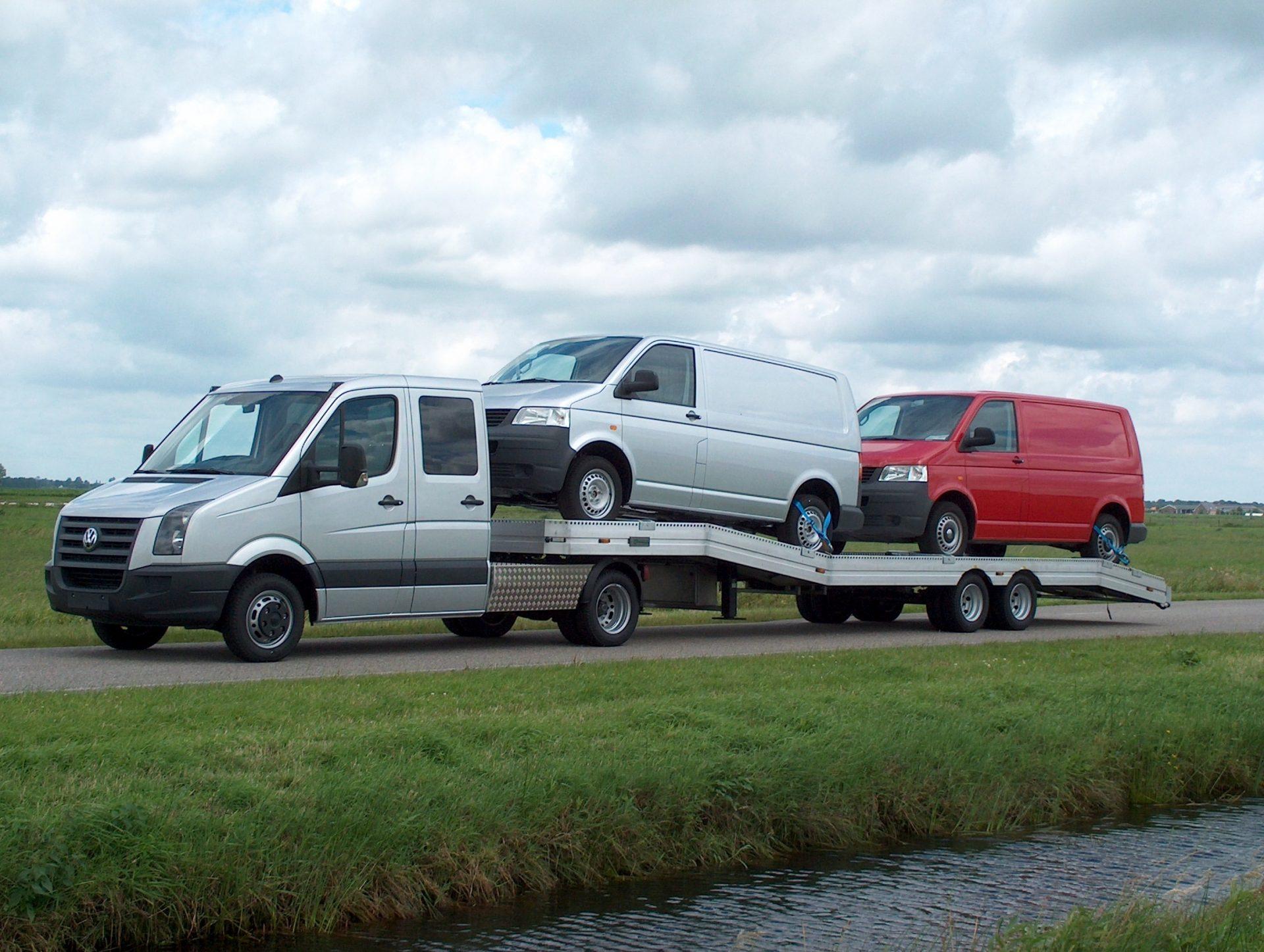 Wonderbaar 6,8-tons LUCHTGEVEERDE AUTO-TRANSPORT OPLEGGER - Veldhuizen YV-29